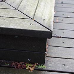 Vlonders: Detail Bangkiray trap